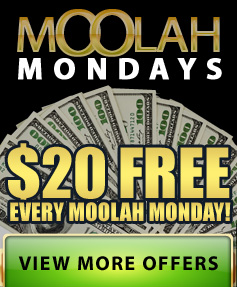$20 FREE every Moolah Monday!