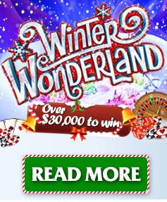 Winter wonderland - Over $30 000 to win