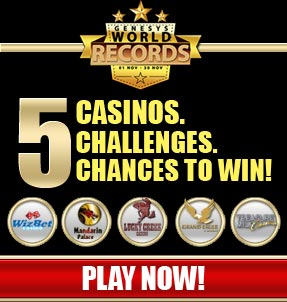 5 Casinos. 5 Challenges. 5 Chances to WIN.